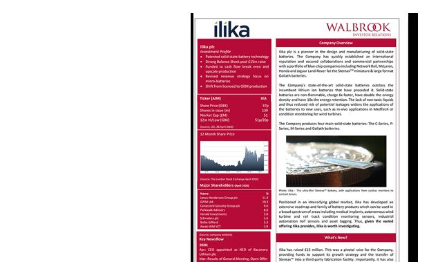 ilika-investment-summary